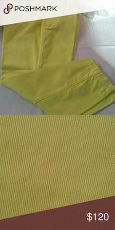 J.Crew scout chino J.Crew scout chino lemon yellow. Great condition J. Crew Pants Ankle & Cropped