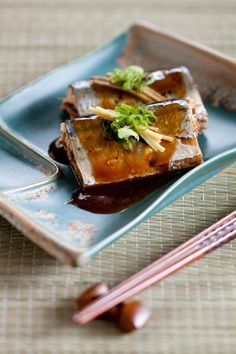 Japanese Miso Braised Pike Mackerel  #japan #food #miso