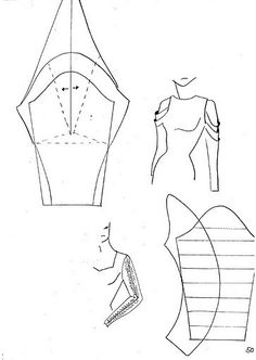 ony-vita: Моделирование рукавов Sewing Patterns Free, Sewing Tutorials, Sewing Projects, Techniques Couture, Sewing Techniques, Pattern Cutting, Pattern Making, Pola Lengan, Sewing Sleeves