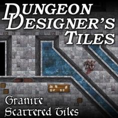 Zombie infested dungeon map tiles for virtual tabletops.