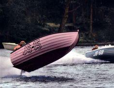 Bob Grodeska's Pink Elephant Jersey Speed Skiff