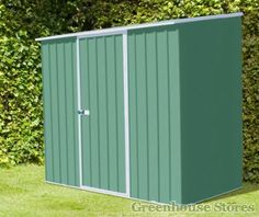 Absco 7 x 2 Spacesaver Green Metal Shed   Greenhouse Stores  http://www.greenhousestores.co.uk/Absco-7-x-2-Spacesaver-Green-Metal-Shed.htm