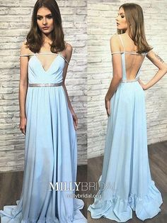 Prom Dress Princess, Stylish blue v neck backless long prom dress, blue evening dress Shop ball gown prom dresses and gowns and become a princess on prom night. prom ball gowns in every size, from juniors to plus size. Pageant Dresses For Teens, Backless Prom Dresses, A Line Prom Dresses, Tulle Prom Dress, Cheap Prom Dresses, Homecoming Dresses, Formal Dresses, Party Dresses, Formal Prom