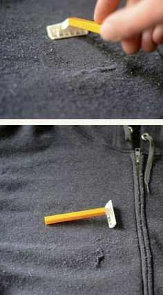Shave your sweater fuzz off - this seems pretty intuitive! #LifeHack from #DaveBenton #PhoenixRealtor