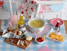 Miniature Making French Fries Set by CuteinMiniature on Etsy
