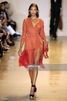 A model walks the runway at the Altuzarra Spring 2016 fashion show during New York Fashion Week at Spring Studios on September 12, 2015 in New York City.