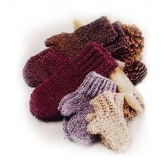 Family of Mittens (Crochet) - Lion Brand Yarn
