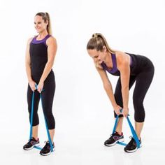 Resistance Band Workout: Perky Cheeks Deadlift - Resistance Band Workout: 7 Butt Exercises That Really Work - Shape Magazine