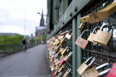 love-lock bridge in germany
