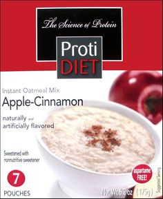Bariatric Diet Supplements - ProtiDiet Apple-Cinnamon Instant Oatmeal (7 Servings/Box), $10.99