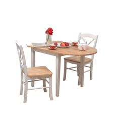 Furniture, Amazing Small Kitchen Stylish 2 Seater Expandable Dining Table Sets With Natural Wooden Tabletop And White Color Legs Sets ~ Awesome Expandable Dinner Table