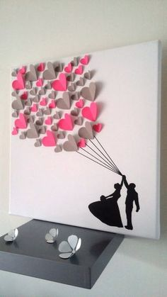 guest book - signature tree - fingerprint tree on a canvas . - guest book – signature tree – fingerprint tree on canvas in co … - Kids Crafts, Tree Crafts, Arts And Crafts, Kids Diy, Valentines Bricolage, Valentine Crafts, Kids Valentines, Papier Diy, Guest Book Tree