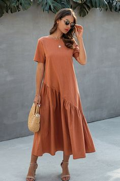 Maxi Dress With Sleeves, The Dress, Short Sleeve Dresses, Plus Size Maxi Dresses, Simple Dresses, Elegant Maxi Dress, Long Maxi Dresses, Long Casual Dresses, Cute Maxi Dress