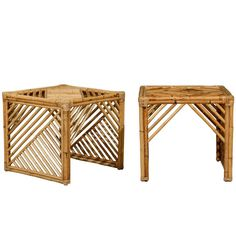 brilliant pair of modern chippendale style end tables in bamboo bamboo modern furniture