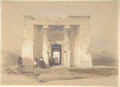 David Roberts   The Temple at Dendur, Nubia   The Met