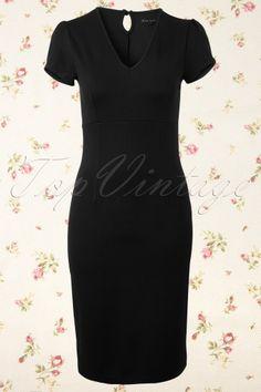 King Louie - 50s Marilyn Dress Milano in Black