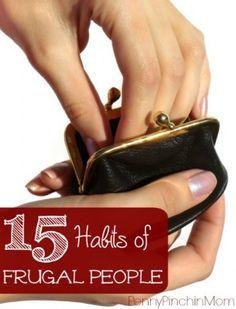 Fifteen Habits of Frugal People