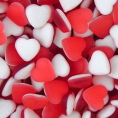 Pastel Red, Food Wallpaper, Colorful Candy, Aesthetic Colors, Candy Shop, Aesthetic Wallpapers, Heart Shapes, Red And White, Creations