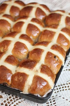 Spicy, sticky Hot Cross Buns- Traditional Easter fare