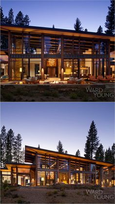 Martis Modern Mountain Home by Ward Young Architecture Mountain Home Exterior, Modern Mountain Home, Modern Rustic Homes, Ultra Modern Homes, Dream House Plans, Modern House Plans, Beautiful Architecture, Modern Architecture, Cottage Design