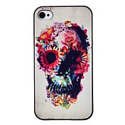 Flower Decorated Skull Coloured Drawing Patte... – USD $ 3.46