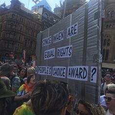 """31 Likes, 1 Comments - Jez (@jezmond0) on Instagram: """"#marriageequality"""" My favourite sign from the marriage equality rallies 2017"""