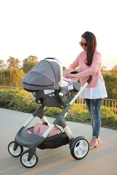 Stokke Crusi Stroller with Infant Stokke Pipa Car Seat