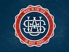 Dribbble - Made In The Usa Monogram by Nick Slater