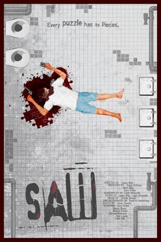 Saw (2004) ~ Minimal Movie Poster by Edgar Ascensao #amusementphile