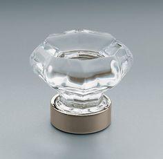 Restoration Hardware   Traditional Clear Glass Knob (same As Old Town Clear  Cabinet Knob Emtek