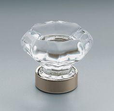 """Restoration Hardware - Traditional Clear Glass Knob (same as Old Town Clear Cabinet Knob Emtek?) Available in 2 sizes 1"""" and 1-1/4"""" diameter. Polished Nickel."""