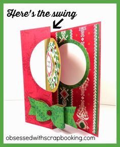 Artfully Sent Holiday Swing Cricut Card - Close to My Heart #artfullysent #closetomyheart www.obsessedwithscrapbooking.com