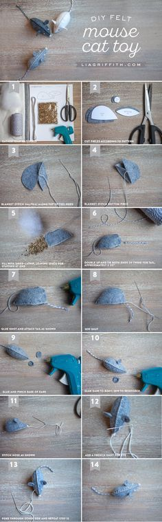 DIY Felt Mouse Cat Toy Tutorial from MichaelsMakers Lia Griffith