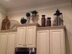 Image result for Kitchen cabinets top arrangements
