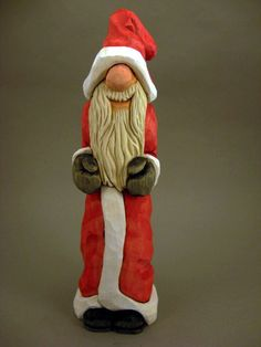 Hand Carved Santa by CarvingsbyTony