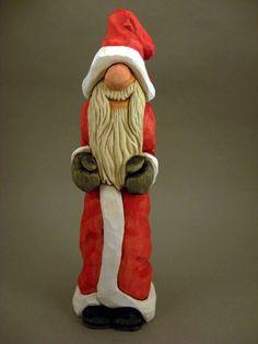 Hand Carved Santa by CarvingsbyTony