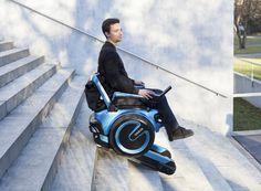 Инвалидная коляска Scewo может подниматься по лестнице самостоятельно