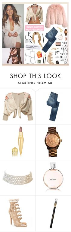 """my name is whatever you wanna call me"" by rocio-rivera ❤ liked on Polyvore featuring Karl Lagerfeld, Balenciaga, Miss Selfridge, Paige Denim, Christian Louboutin, Michael Kors, Marina J., Chanel, Polaroid and L'Oréal Paris"
