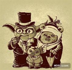 Yoda + Ewok = Gremlin. FUNNY!