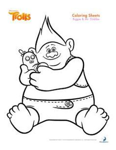 Biggie And Mr Dinkles Trolls Coloring Pages Printable Book To Print For Free Find More Online Kids Adults Of
