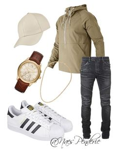 """""""Untitled #42"""" by naes-penderie on Polyvore featuring New Balance, Balmain, adidas, Michael Kors, Topman, men's fashion and menswear"""