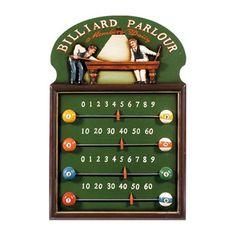 RAM Gameroom Products R829 Billiard Parlour Score Keeper Game Room Decor