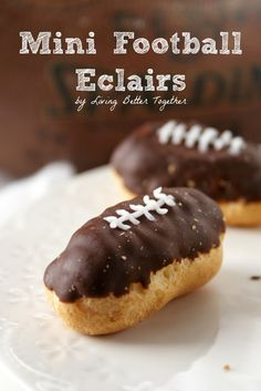 Mini Football Eclairs