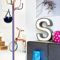 eclectic vintage funky Colourful foyer or hallway full of things you just adore.