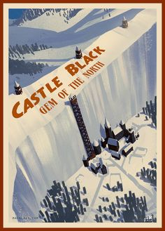 Castle Black Gem Of The North by Marco Cardonna. Art Gallery Game of Thr. - Castle Black Gem Of The North by Marco Cardonna. Art Gallery Game of Thrones Game Of Thrones Bar, Dessin Game Of Thrones, Game Of Throne Poster, Tolkien, Game Of Trone, Art Gallery, Black Castle, Geek Art, Fanart