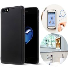 iPhone 7 Case, Anti Gravity Phone Case for CloudValley [black] Magical Nano Can Stick to Glass, Whiteboards, Tile and Smooth Flat Surfaces(4.7-inch). Material:PC+TPU, Protect your phone from scratch and shock. Can Stick to glass, mirrors, whiteboards, metal, kitchen cabinets or tile, car GPS, and most smooth, flat surfaces. Nano-meter washable micro-suction back,The case Sticks without being sticky. Works perfectly with all phone functions including gps, wifi, apple pay, 4G, NFC…