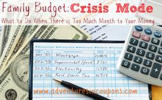 Too much month to your money? Find out what to do when your family budget is in crisis mode and how to firmly plant your feet on solid ground again.