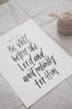 Custom brush calligraphy quote sign