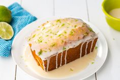 Key Lime Pound Cake - Delish whip the butter and cream cheese a long time maybe 8 mins so that it is fluffy and fold in the rest. it makes the best pound cake ever Key Lime Pound Cake, Key Lime Cake, Easy Pound Cake, Pound Cake Recipes, Pound Cakes, Key Lime Bread, Key Lime Cookies, Key Lime Desserts, Just Desserts