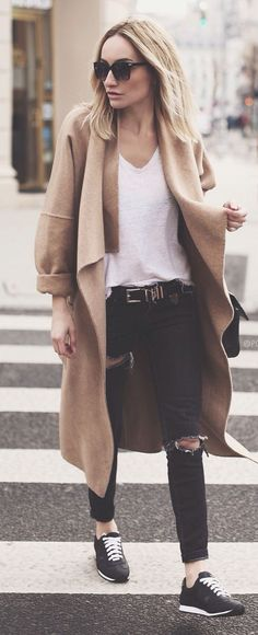 Waterfall Coat Outfit Idea